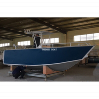 5.8m aluminum center console fishing boat with hard top