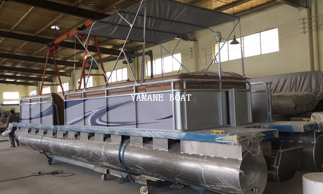 30ft Aluminum Pontoon Boat for Sightseeing Tourist Transport
